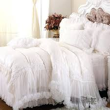 king size bedding luxury white lace ruffle cake bedding set queen king size bedding for wedding princess duvet cover set bedspread 4 from king size
