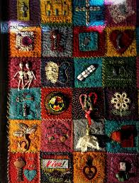 Embroidered 100 day patch quilt. Mixed Media. Artist: Diane Utley ... & Embroidered 100 day patch quilt. Mixed Media. Artist: Diane Utley-Aguilar  Find Adamdwight.com