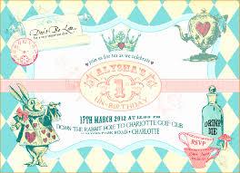 12 Free Alice In Wonderland Invitations Template