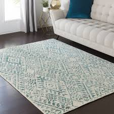 architecture and home extraordinary teal accent rug of bungalow rose puran cream area reviews wayfair