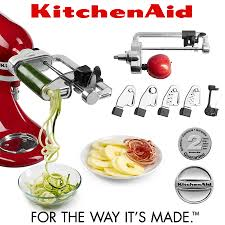 kitchenaid spiralizer attachment. kitchenaid - spiralizer with peel, core and slice kitchenaid attachment d