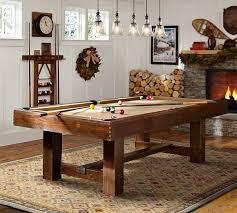 pool table lights. Pottery Barn Pool Table Rustic Mahogany With Lights Decor 10