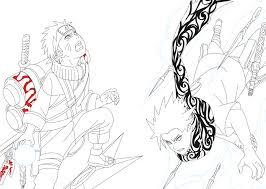 Hd Wallpapers Coloring Pages Of Naruto Vs Sasuke Naruto Anime