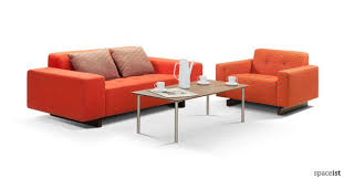 office orange. 46 Two Seater Office Sofa In Orange