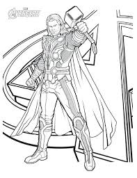 thor coloring pages avengers character page print ragnarok colouring