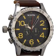 nixon men s a124019 51 30 chrono leather watch