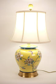 Fine Asianliving Oriental Porcelain Table Lamp Yellow