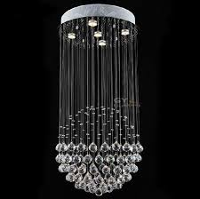 d50 h80cm modern crystal chandeliers kitchen lighting bedroom living room hallway staircase entrance home hanging chandelier