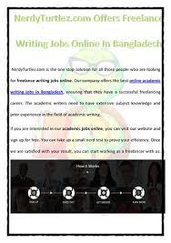 nerdyturtlez com offers lance writing jobs online in banglades com offers lance writing jobs online in banglades authorstream