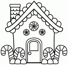Small Picture Download Coloring Pages Gingerbread House Coloring Page