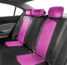deluxe faux leather car seat covers sport top quality pink for car suv 3