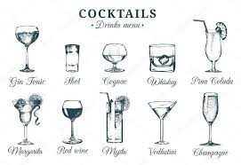 Beverages Cocktails © Stock Of Glasses — 108698618 Vladayoung Alcoholic Vector