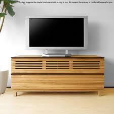 the tv board which is the natural taste using タモ pure materials