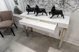 white lacquer console table