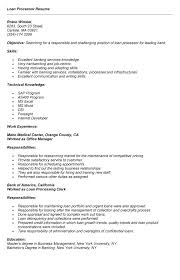 loan processor resume best resume sample example of resume to apply job - Sample  Loan Processor