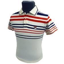 fila vintage polo. \u0027point polo\u0027 mens retro indie polo shirt by fila vintage (gardenia). fila vintage polo