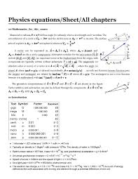 file equation sheet for next college physics quiz pdf