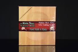 wood products miscellaneous alaskan birch bowl ulu cutting board