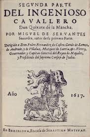 iconography of don quixote 1617 barcelona sebastian matevat segvnda parte del ingenioso cavallero don quixote de la