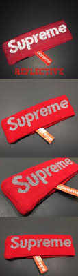 fila x supreme headband. other mens accessories 1060: reflective 3m supreme headband red 2016 fw new era logo fleece fila x y