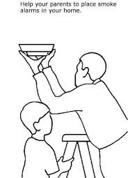 Fire safety preschool coloring pages