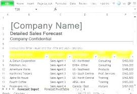 Financial Forecast Template Financial Forecast Template Excel