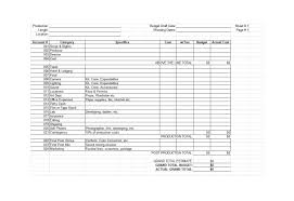Budget To Actual Template 33 Free Film Budget Templates Excel Word Template Lab