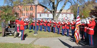 post honors veterans in folger park photo essay capitol hill the marine drum and bugle corp under the direction of major brian dix