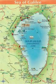 maps of the sea of galilee  israel bible and scriptures