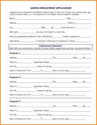 Sample Employment Application Sample employment application form for a job achievable depiction 1