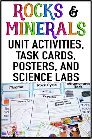 Rocks And Minerals Anchor Chart Rocks And Minerals Activities And Anchor Chart Rock