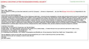 Supermarket Purchasing Manager Offer Letters   Offer Letters ...