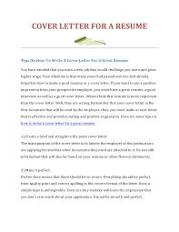 Prepare A Cover Letter Under Fontanacountryinn Com