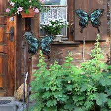 Metal butterfly wall decor outdoor garden fence art hanging glass decorations for patio or bedroom mewonb 4 out of 5 stars (55) $ 29.45 free shipping add to favorites quick view more colors metal decorative repurposed rustic butterfly ironbirdsalvage 5 out of 5 stars (764. Liffy Metal Butterfly Wall Decor Outdoor Garden Fence Art Hanging Glass Decorations For Patio Or Bedroom Pricepulse