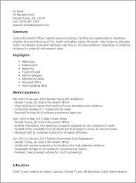 Resume Templates: Code Enforcement Officer