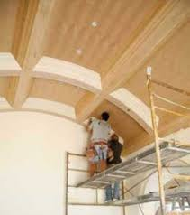 curved wood ceiling. Fine Curved When My Brother First Told Me About It The Job Seemed Like An Overthetop  Challenge Installing A Coffered Ceiling In Barrel Vault In Curved Wood Ceiling