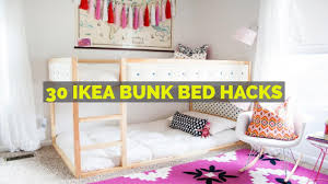 Bunk bed with slide ikea Clubhouse Youtube 30 Ikea Bunk Bed Hacks Youtube