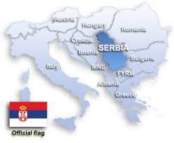 Image result for map of serbia in europe