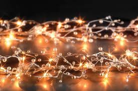 Beaded Fairy Lights Pearl Light Deco Wedding Pearl Beads Beaded Garland