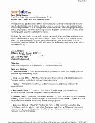 Computer Skills List For Resume Best Of Key Skills Cv