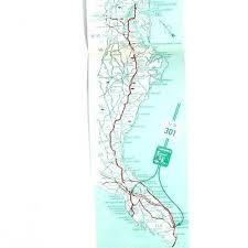 Interstate Mileage Chart Us 301 Fl Miss Universe Highway Map Mileage Vintage 1965