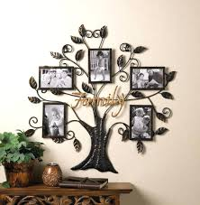 family tree wall decor with names wood metal