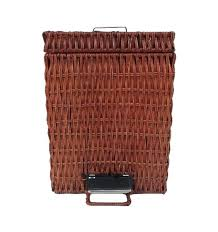small wicker wastebasket with lid. Brilliant Wastebasket Rattan Trash Can Wicker  Intended Small Wicker Wastebasket With Lid I