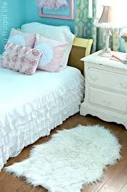 small fur rug vintage bedroom with white furry and oak fuzzy image of faux