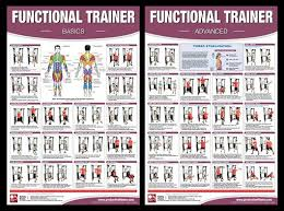 Functional Trainer Fitness Instructional Wall Chart 2 Poster