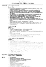 Music Manager Job Description Venue Manager Resume Samples Velvet Jobs