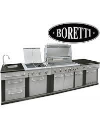 supagrill boretti marciano xl outdoor kitchen 5 burner gas barbecue with fridge h122cm x w317cm