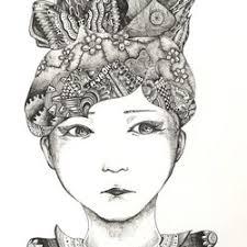 似顔絵イメージイラスト ペン画