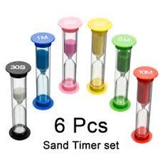 Timer 10min 6pcs Egg Timer Hourglass Sand Timer Sandglass 30second 1 2 3 5 10
