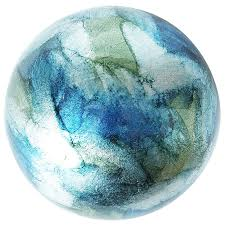 Blue And Green Decor Blue Green Foil Decorative Sphere Pier 1 Imports